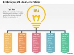 Business Diagram Techniques Of Idea Generation Presentation Template