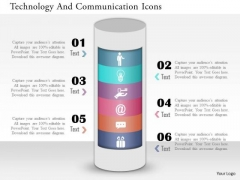 Business Diagram Technology And Communication Icons Presentation Template