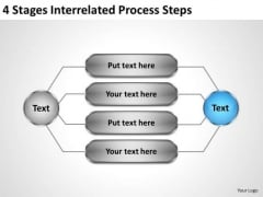Business Diagram Templates 4 Stages Interrelated Process Steps Ppt 6 PowerPoint Slides