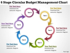 Business Diagram Templates 6 Stage Circular Budget Management Chart PowerPoint