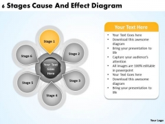 Business Diagram Templates 6 Stages Cause And Effect PowerPoint