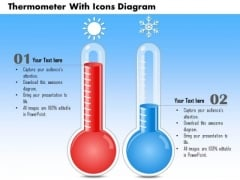 Business Diagram Thermometer With Icons Diagram PowerPoint Ppt Presentation