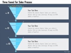 Business Diagram Three Funnel For Sales Process Presentation Template