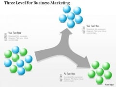 Business Diagram Three Level For Business Marketing Presentation Template