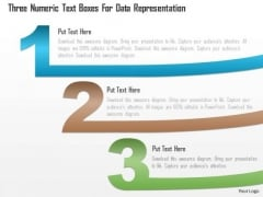 Business Diagram Three Numeric Text Boxes For Data Representation PowerPoint Template