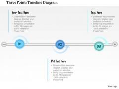 Business Diagram Three Points Timeline Diagram Presentation Template