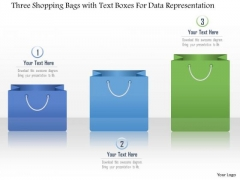 Business Diagram Three Shopping Bags With Text Boxes For Data Representation Presentation Template