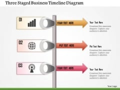 Business Diagram Three Staged Business Timeline Diagram Presentation Template
