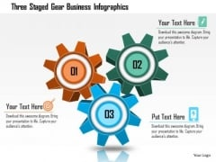 Business Diagram Three Staged Gear Business Infographics Presentation Template