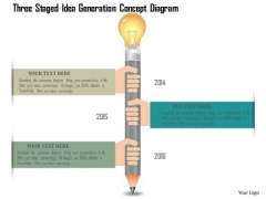 Business Diagram Three Staged Idea Generation Concept Diagram PowerPoint Template