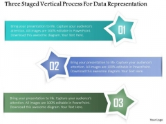 Business Diagram Three Staged Vertical Process For Data Representation Presentation Template
