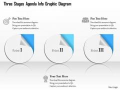 Business Diagram Three Stages Agenda Info Graphic Diagram Presentation Template