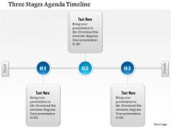 Business Diagram Three Stages Agenda Timeline Presentation Template