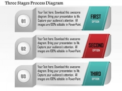Business Diagram Three Stages Process Diagram Presentation Template