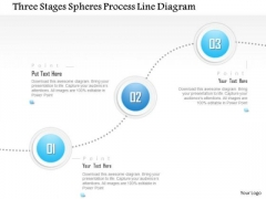 Business Diagram Three Stages Spheres Process Line Diagram Presentation Template
