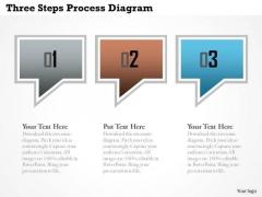 Business Diagram Three Steps Process Diagram Presentation Template