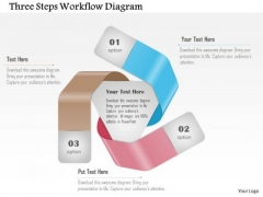 Business Diagram Three Steps Workflow Diagram Presentation Template