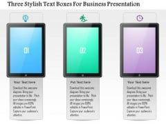 Business Diagram Three Stylish Text Boxes For Business Presentation Presentation Template