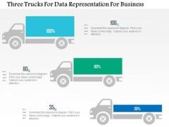 Business Diagram Three Trucks For Data Representation For Business PowerPoint Slide