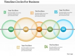 Business Diagram Timeline Circles For Business Presentation Template