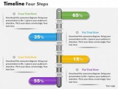 Business Diagram Timeline Four Steps Presentation Template