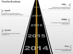 Business Diagram Timeline Roadmap Info Graphic Presentation Template