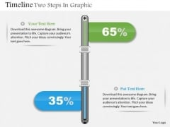 Business Diagram Timeline Two Steps In Graphic Presentation Template