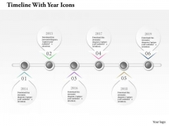 Business Diagram Timeline With Year Icons Info Graphic Presentation Template