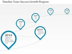 Business Diagram Timeline Years Success Growth Progress Presentation Template