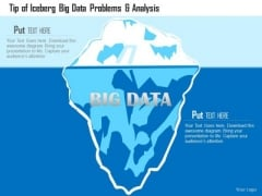 Business Diagram Tip Of Iceberg Big Data Problems And Analysis Ppt Slide