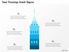 Business Diagram Tower Percentage Growth Diagram Presentation Template