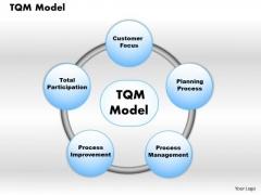Business Diagram Tqm Model PowerPoint Ppt Presentation