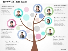 Business Diagram Tree With Team Icons Presentation Template