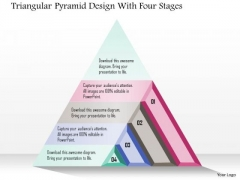Business Diagram Triangular Pyramid Design With Four Stages Presentation Template