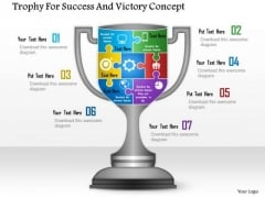 Business Diagram Trophy For Success And Victory Concept Presentation Template
