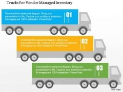 Business Diagram Trucks For Vendor Managed Inventory Presentation Template