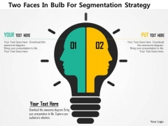 Business Diagram Two Faces In Bulb For Segmentation Strategy Presentation Template