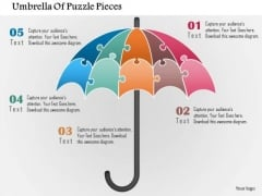Business Diagram Umbrella Of Puzzle Pieces Presentation Template
