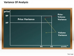 Business Diagram Variance Of Analysis PowerPoint Ppt Presentation