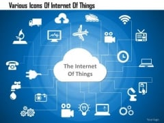 Business Diagram Various Icons Of Internet Of Things Presentation Template