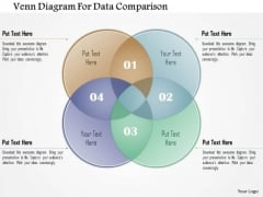 Business Diagram Venn Diagram For Data Comparison Presentation Template