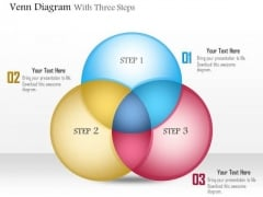 Business Diagram Venn Diagram With Three Steps Presentation Template