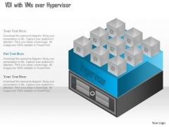Business Diagram Virtual Desktip Infrastructure Vdi With Vms Over Hypervisor Ppt Slide