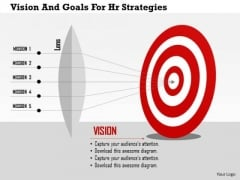 Business Diagram Vision And Goals For Hr Strategies Presentation Template