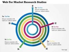 Business Diagram Web For Market Research Studies Presentation Template