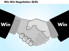 Business Diagram Win Win Negotiation Skills PowerPoint Ppt Presentation