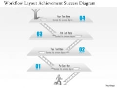 Business Diagram Workflow Layout Achievement Success Diagram Presentation Template