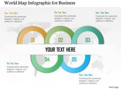 Business Diagram World Map Infographic For Business Presentation Template