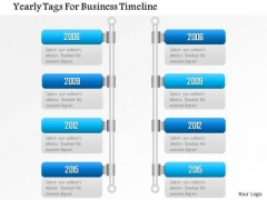 Business Diagram Yearly Tags For Business Timeline Presentation Template