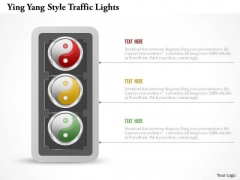 Business Diagram Ying Yang Style Traffic Lights Presentation Template